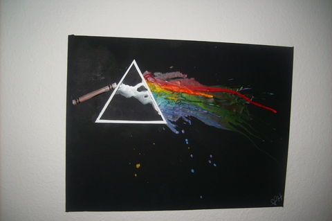 Pink Floyd melted crayon project.... freakin LOVE IT!!! Maybe I'll do this for Greg's birthday :)