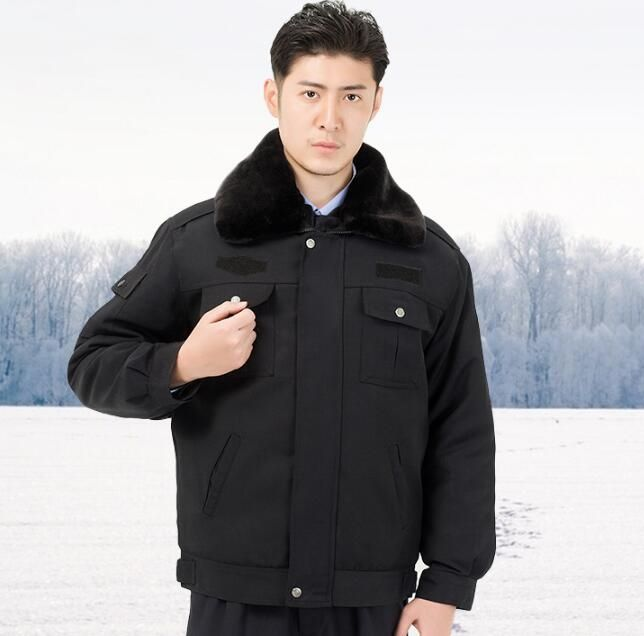 53.80$  Buy here  - Winter jacket men Security services winter clothes Security uniforms Property Overalls