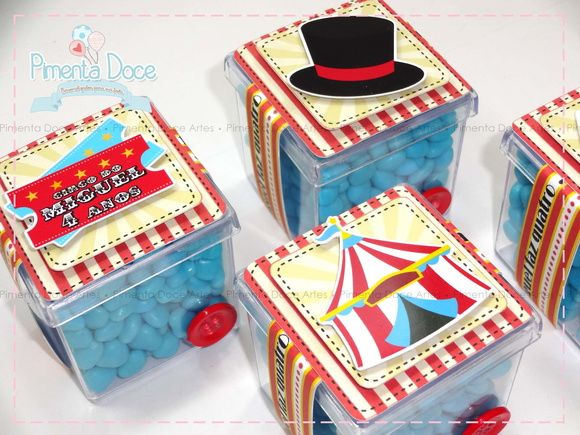 Caixinha acrílica Circo (SEM balas)