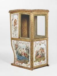 A Louis XVI sedan chair, late 18th Century,