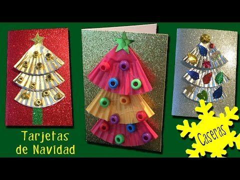 Tarjetas de navidad caseras con arbolitos hoy no hay - Decorar postales de navidad ...