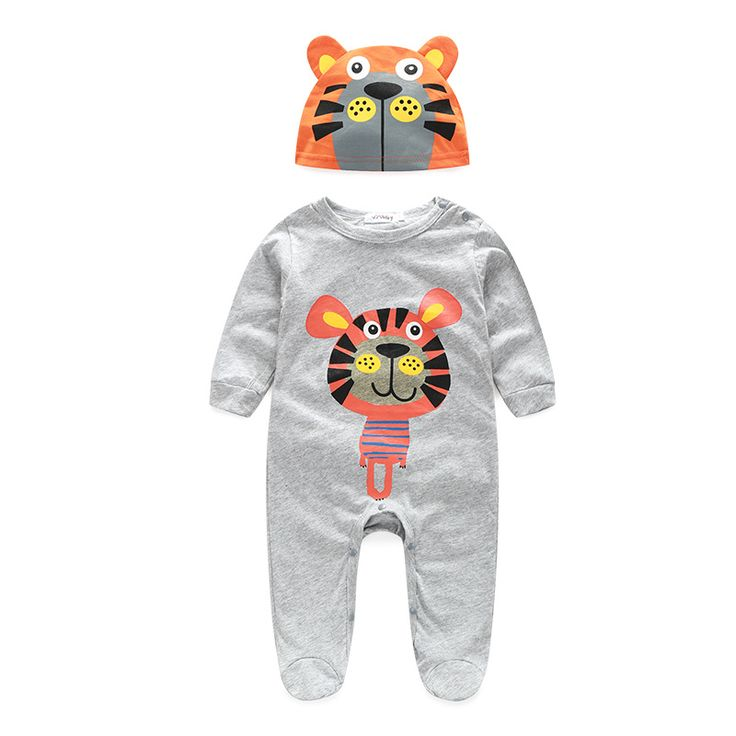 New Animal Shapes baby Cotton Cartoon Series Hooded Romper Cow tiger lion panda Jumpsuit Climbing Clothes. Click visit to buy #BabyGirlClothingSet #BabyGirl #ClothingSet