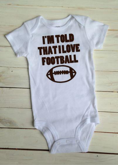 Football Baby Bodysuit Football Season by stitchingandsunshine