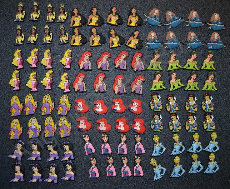 Disney Princess Shoe Charms fit Wristbands & Crocs USA Seller!! Must See!  #DisneyPrincessJibbitz