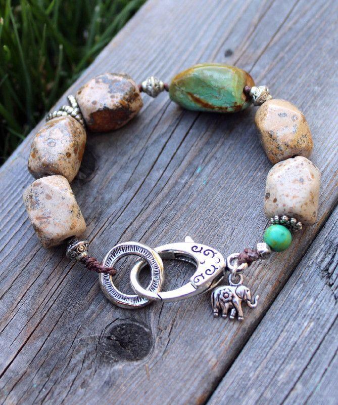 Ever Designs Jewelry - Earthy Gemstone Bracelet, $45.00 (http://www.everdesigns.com/earthy-gemstone-bracelet/)