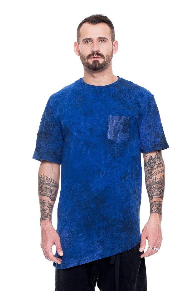 Asymmetric T-shirt, blue acid wash    #mariashi #fashion #russiandesigners #nofilter #outfit #outfitoftheday #outfits #outfitpost #clothes #fashionista #fashiondesigner #shopping