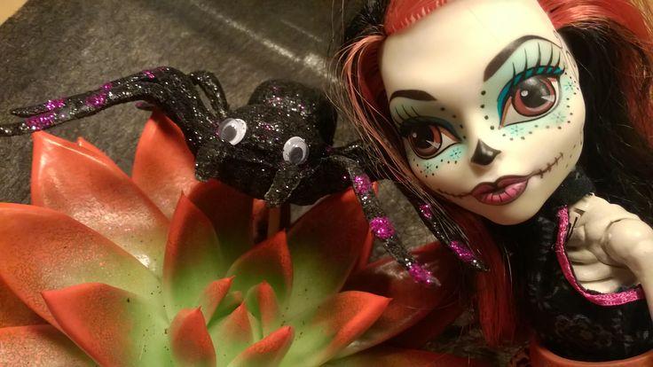 Skelita and spider