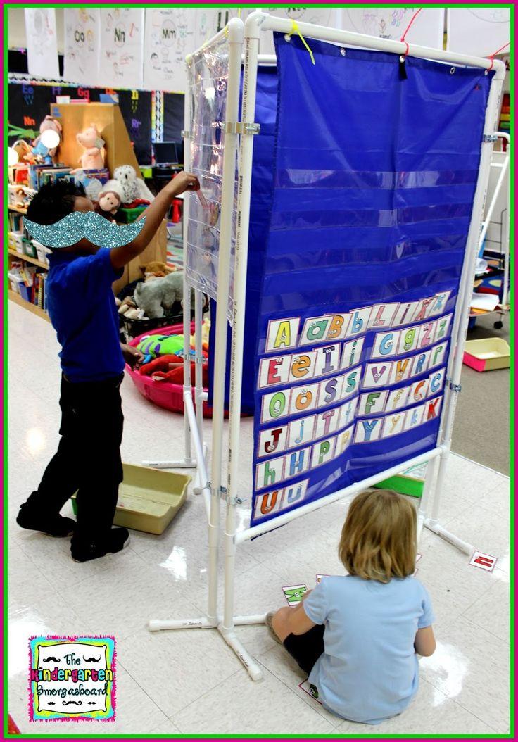 The Kindergarten Smorgasboard: A Kindergarten Smorgasboard DIY 3 Sided Pocket Chart Stand
