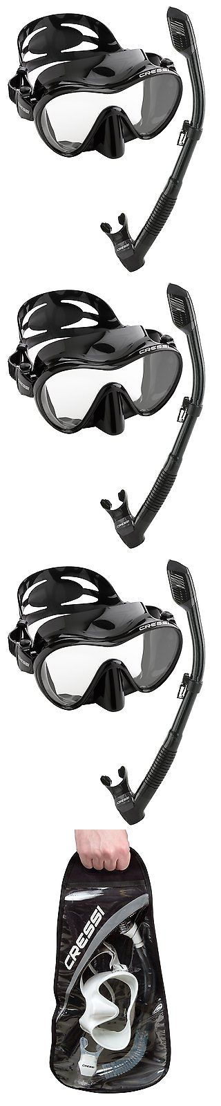 Snorkels and Sets 71162: Cressi Scuba Diving Snorkeling Freediving Mask Snorkel Set Black -> BUY IT NOW ONLY: $50.36 on eBay!