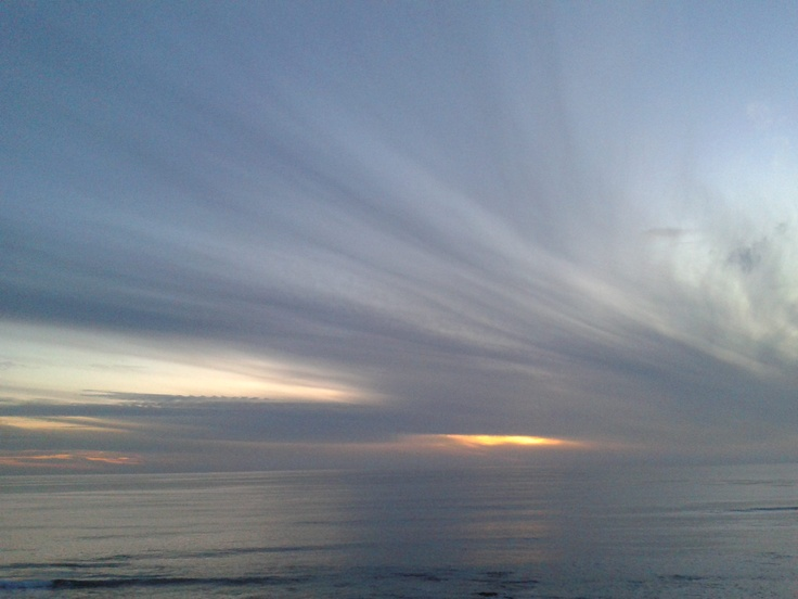 Here you can see what the wind does with the clouds Baja California surprising every day. Pic by. R.S.