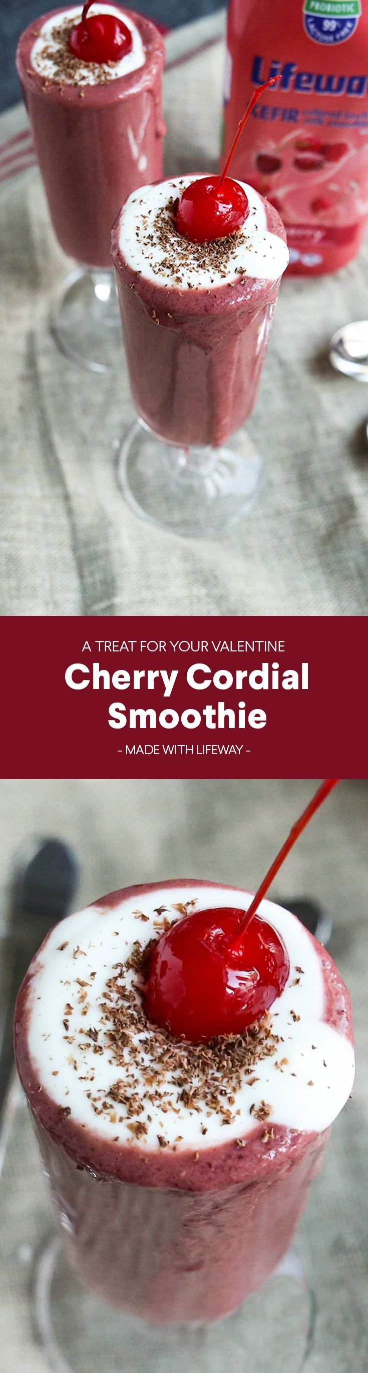 All the decadence of a cherry cordial in one guilt-free smoothie. Our recipe makes two, so share with someone you ❤️