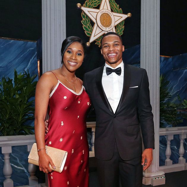 Russell Westbrook Gets Major Support From Wife Nina On His Hall Of Fame Night from essence.com