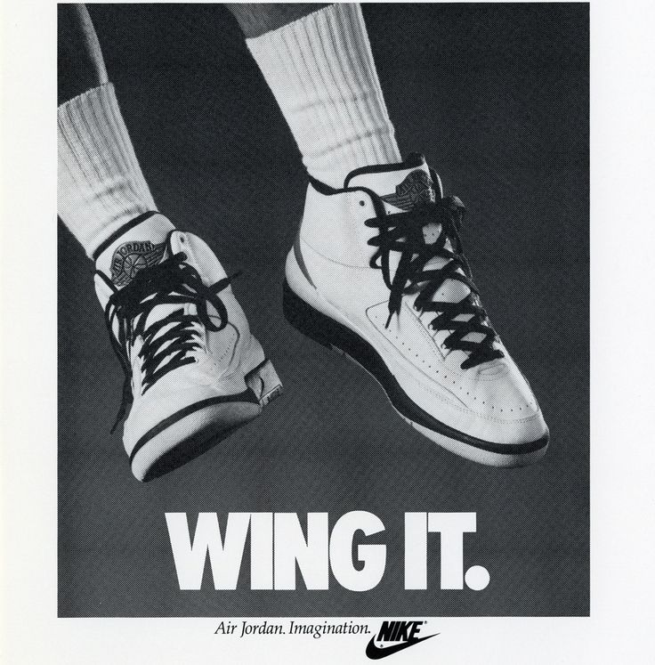 Michael Jordan 'Wing It' Air Jordan II 2 Nike Air Jordan Poster