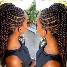 The 25 best cornrows updo ideas on pinterest cornrow updo cornrows updo afro africanhairbraiding hairedtensions extensions cornrows updo protectivehairstyles urmus Image collections
