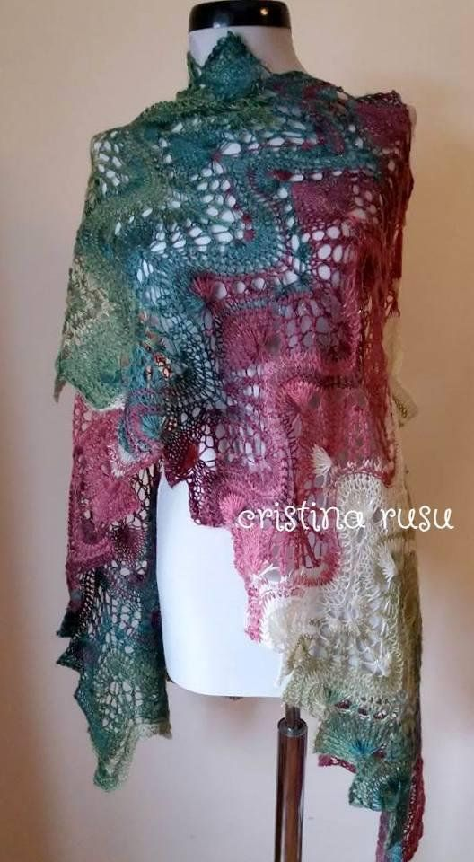 Multicolor hand knitted lace shawl,knit scarf, Lace estonian shawl,Handknitted multicolor shawl ,Bolero ,Gift for her ,Wedding, summer shawl