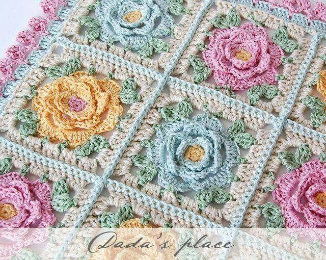 Pastel Rose Afghan