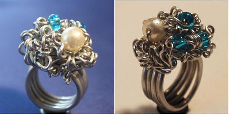 ©efco-freizeit-engel.de Aludraht-Ring mit Perlen gekräuselt