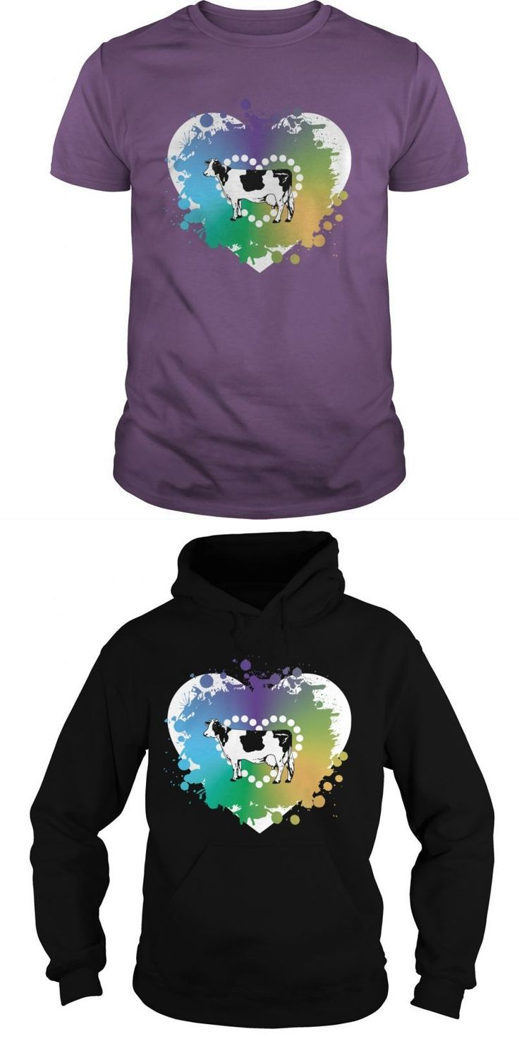 Cow T Shirt Company Cow Love Colored Heart T-shirt #cow #t #shirt #india #im #a #cow #t #shirt #t-shirts #with #cows #on #them #zombie #cow #t #shirt