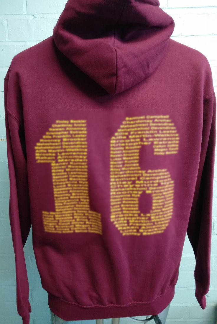 Burgundy Primary School Leavers Hoodies for St Mark's CE with custom school logo embroidered on the front and custom leavers print on the back.