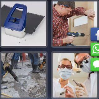 Soluciones Juego - 4 Fotos 1 Palabra: 4 Fotos 1 Palabra Taladro Dentista - Enigma Diario Tailandia Noviembre 8 Letras