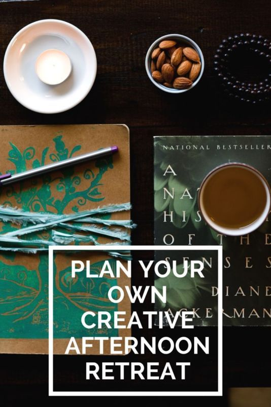 Plan your own creative afternoon retreat. Even just choosing one idea from this list will help you invite in creative self-care and give yourself a bit of a retreat.