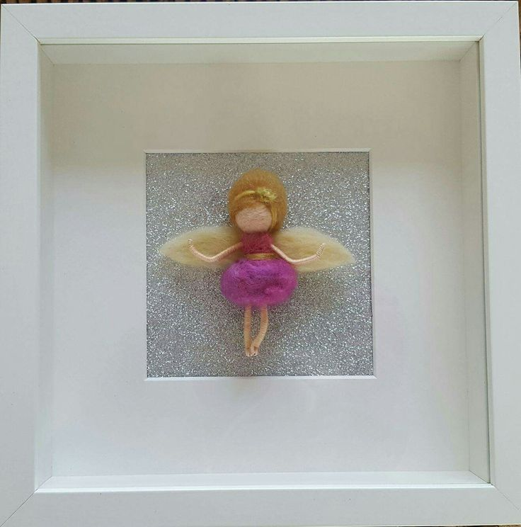 Needlefelted fairy in frame made by shop/ThefeltfairyStudio?ref=hdr_shop_menu