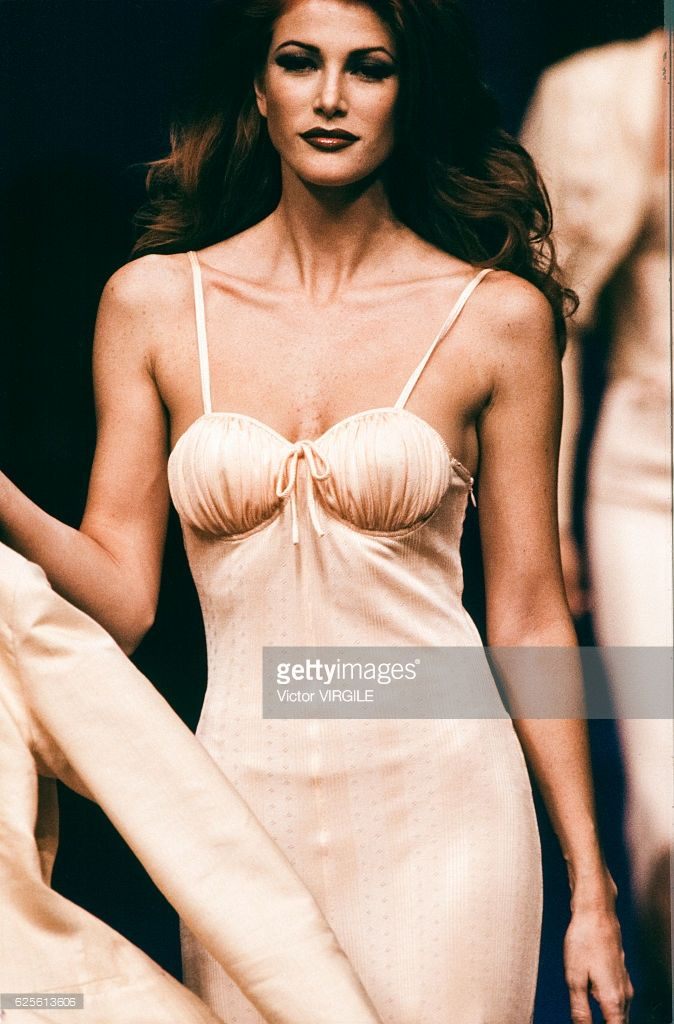 Angie Everhart Chantal Thomass Ready to Wear SS93 Paris Fashion Week