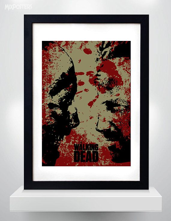 The WALKING DEAD poster Rick vs Walkers Wall Art by MixPosters,