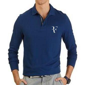 Polo Manche Longue Roger Federer - Bleu