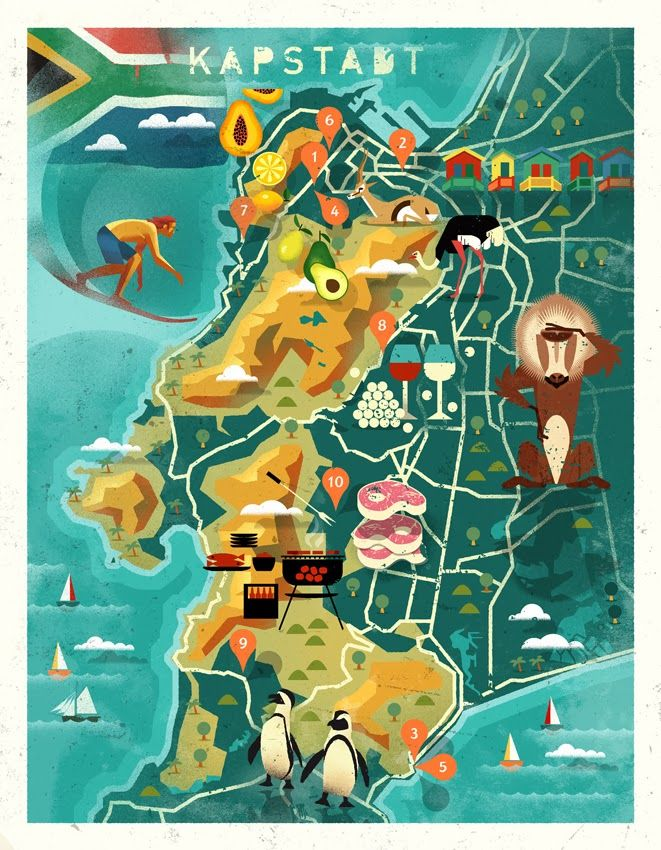BRAUNTOWN: Cape Town #mapping #map #illustration #animal #capetown