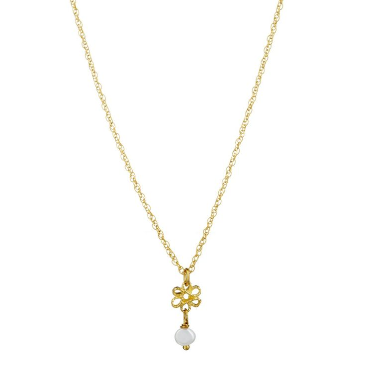 Infinity Pendant XS With Pearl