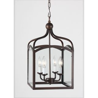 Ashley Bronze 4-light Foyer Hanging Lantern - Overstock™ Shopping - Great Deals on Chandeliers & Pendants