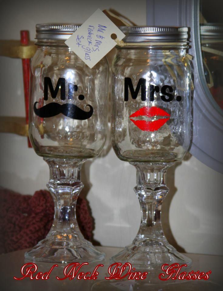 Redneck Baby Gift Ideas : Redneck wine glasses perfect hostess or wedding gift