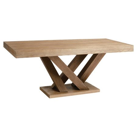Rectangular dining table with a branching base.   Product: Dining tableConstruction Material: Solid oak and oak ...