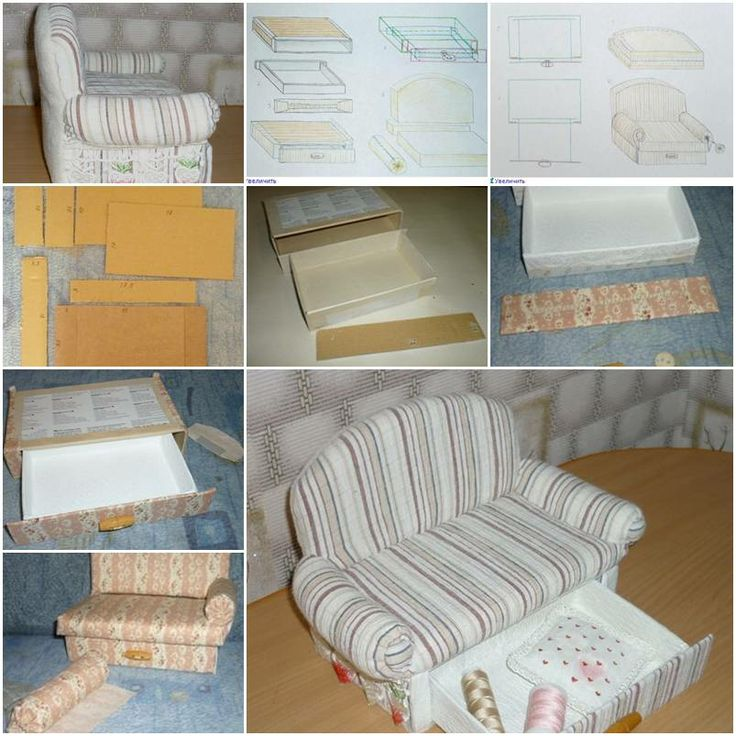 how to make a sofa with paper