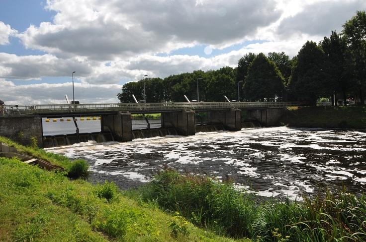 stuw Vilsteren tussen Ommen en Zwolle in het Vechtdal Overijssel