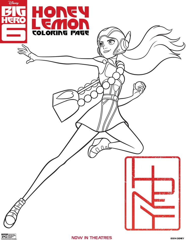 BIG HERO 6 Coloring Pages and Activity Sheets