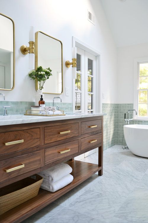 before + after sarah drive master bath Home Sweet Home
