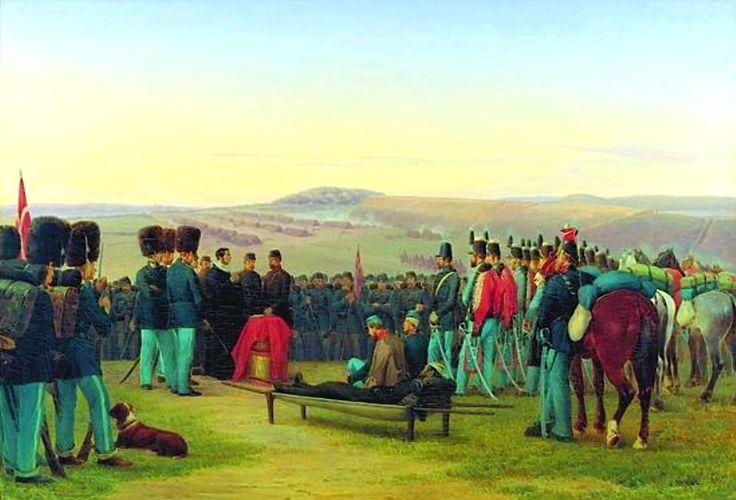 Jørgen Sonne - Feltgudstjeneste ved Dannevirke efter Slaget ved Isted 25.07.1850