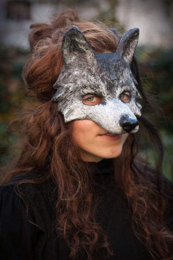 Wolf mask is unique piece of wearable art. Mask is lightweight, durable and designed to be comfortable to wear. It's easy to forget you are wearing