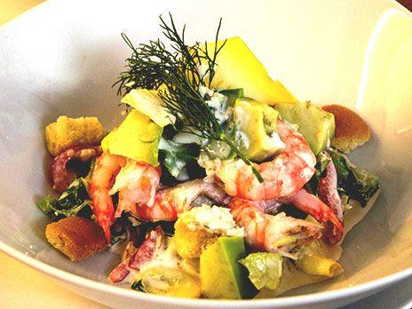 Caesarsallad med räkor | Recept.nu