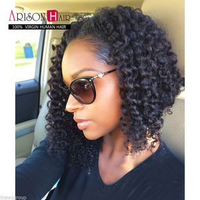 Details about 100% Brazilian Virgin Human Hair Short Bob Curly Full Lace Wig Lace Front Wig