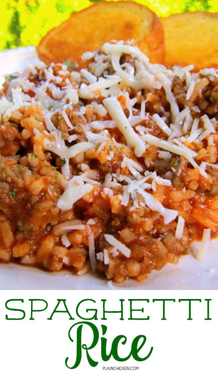 Spaghetti Reis | Plain Chicken®