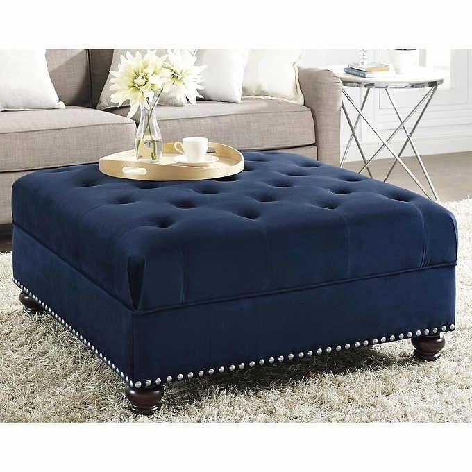 Charlize Blue Ottoman Blue Ottoman Ottoman In Living Room Diy
