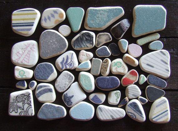Mediterranean Mosaic. Frammenti di ceramica di GlassAndSeaStones