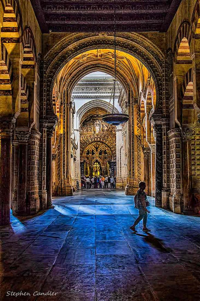 Interior of the Mezquita, Cordoba, Spain.