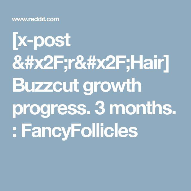 [x-post /r/Hair] Buzzcut growth progress. 3 months. : FancyFollicles