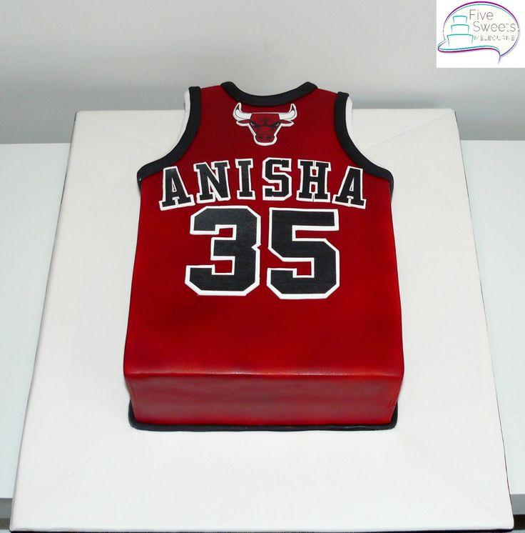 Chicago Bulls Singlet cake for a Basketball lover.