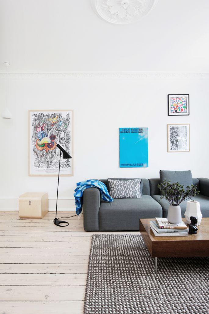 rug, coffee table and sofa