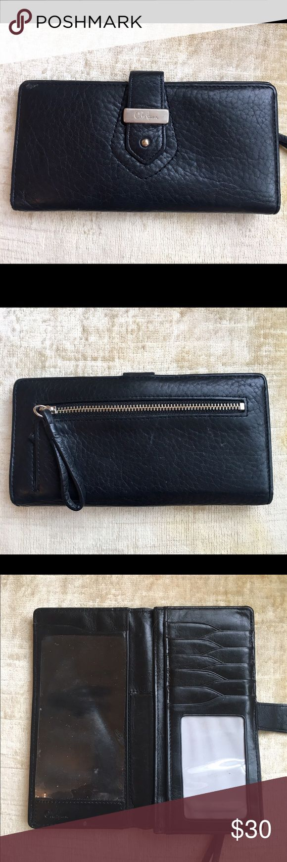 Cole haan black leather gloves - Cole Haan Wallet Gently Used Cole Haan Black Leather Wallet With Silver Metal Accents Cole